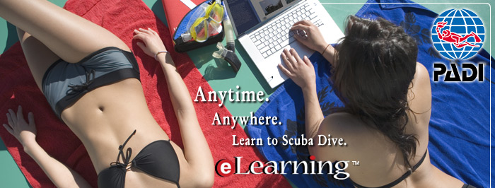 Anytime, anywhere, learn to dive, PADi eLearnin!